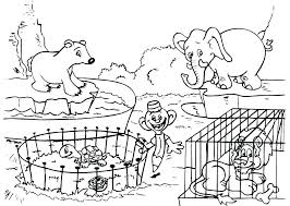 Zoo Animals Coloring Pages For Preschoolers Animal Coloring Page
