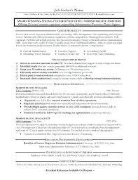 Admin Assistant Resume Sample Executive J Administration