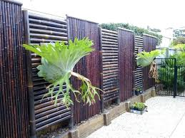 bamboo garden fence color home depot pvc screen fencing with capping border build