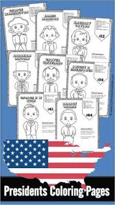 free us presidents for kids these us presidents for kids free printable include a coloring page for each of the 45 us presidents with some interesting