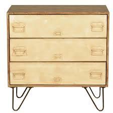 Dresser With Cabinet Mango Wood Iron File Cabinet 3 Drawer Dresser