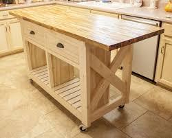 small mobile kitchen island butcher block