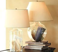 glass bedside table lamps glass table bedside lamp modern table lamps by pottery barn glass bedside