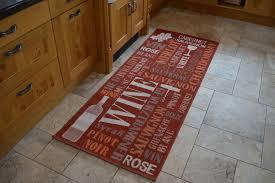 modern kitchen rugs  dark red wine mat  martin phillips carpets