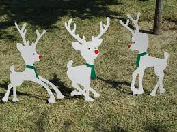Metal Outdoor Decorations For Christmas : Metal yard art christmas lawn  decor outdoor