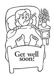 Get Well Soon Printable Coloring Pages Cards For Fathers Adults Free