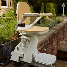 exterior stair chair lift. Interesting Lift A Stairlift Being Used Outdoors In The United Kingdom Acorn 130 Outdoor With Exterior Stair Chair Lift