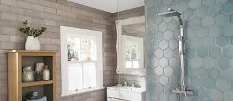 hexagon bathroom tiles