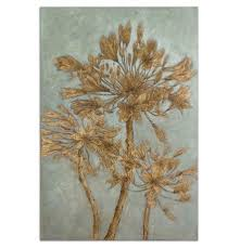 on uttermost large wall art with uttermost golden leaves wall art scout nimble