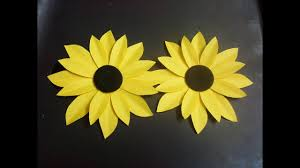 Glace Paper Flower How To Make A Paper Flower Tutorial Sunflower Paper Crafts