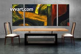 dining room art 3 piece canvas wall art oil paintings large pictures abstract on interior design canvas wall art with 3 piece colorful wall decor abstract oil paintings artwork