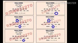 Kalyan Panel Chart Free Kala Sona By K M Chart Wala