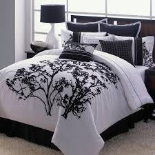 black and white tree print boys comforter bedding sets queen with
