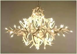 white antler chandelier big sky 6 light white chandelier