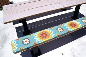 picnic table seat cushions outdoor