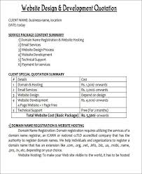 Services Quotation Template 45 Quotation Samples In Pdf