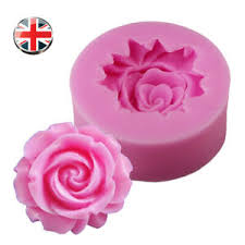 3d Wedding Flower Rose Silicone Mould Fondant Cake Topper Candy