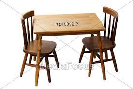 Vintage table and chairs Chrome Royaltyfree Stock Photo Vintage Wood Table And Chair Set For Children Mediafocus Stock Photo Vintage Wood Table Chair Set Children Image Mp1009217