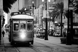 >photo print of streetcar canal street new orleans louisiana black  streetcar canal street new orleans louisiana black and white