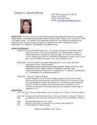 Tour Guide Resume Cover Letter tour guide resume cover letter printable examples resumes template 1