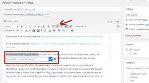 si quieres enlazar a una entrada existente puedes utilizar la sección de buscar para encontrar una entrada o una página de tu que ya has creado y da