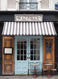 French Bistro Decor Paris Cafe Photograph Malabar Cafe Large Wall Art French