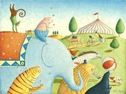 childrens wall murals wallpaper disney hand painted mural circus parade kids room scenic children splendid