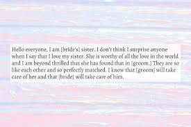 Wedding Speech Example Sister Wedding Speech Text Image Speeches QuoteReel 23