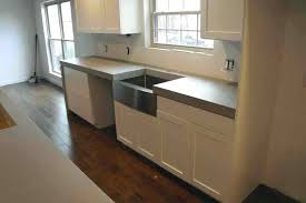 waterfall concrete countertop beautiful kitchen with 3 thick light grey concrete and waterfall panels white concrete