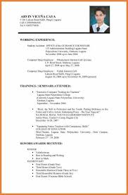 Resume Template New Job Resume Format Free Career Resume Template