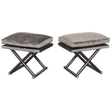 pair of hollywood regency xbenches style of maison jansen th
