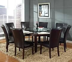 steve silver hartford 72 inch round dining table in dark oak 72 inch dining table round