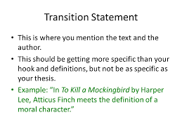 how to write an essay ms mitchell freshman literature ppt  6 transition