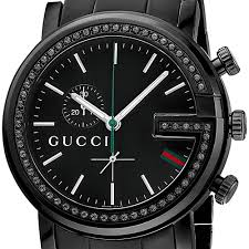 gucci g chrono black diamond mens watch ya101347