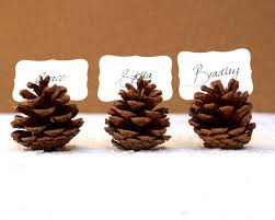 Woodland Wedding Place Cards, 20 Pine Cone holder Table Setting Rustic  Country Theme Favor Autumn