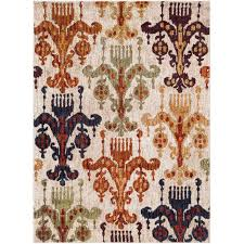 tan green and orange 7 foot runner rug serapi rc willey furniture