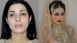 modern asian bridal hair makeup tutorial list salma akhtar mua mehndi wedding nikkah