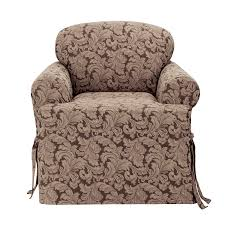 com sure fit scroll t cushion chair slipcover brown sf36221 home kitchen