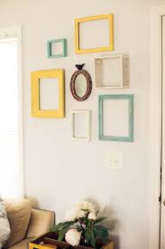Reusing empty frames for wall art
