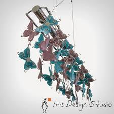 gagos turquoise purple pendant light by iris design studio