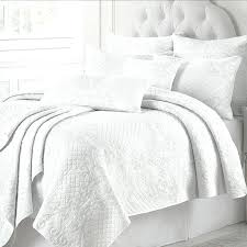 white quilt set washed cotton quilts bed cover sheets embroidered bedspread pillow shams coverlet king s68