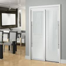 interior frosted glass door. 60-inch White Framed Frosted Sliding Door Interior Glass