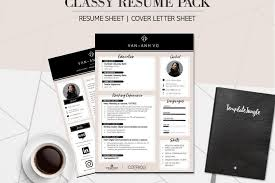Modern Elegant Font For Resume Modern Resume Template Pack Classy Professional Cv Cover Letter Template For Word A4 Format Fully Customizable