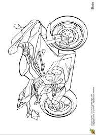 Coloriage De Moto En Ligne Gratuit Imprimer