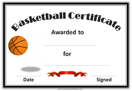mvp award certificates basketball awards certificate template