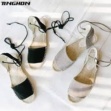 Fashion Simple Style Ethnic Casual Espadrilles Flat New Women ...