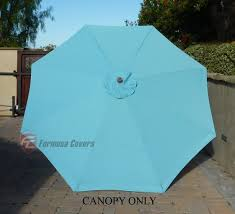 9ft market patio umbrella replacement cover canopy 8 ribs light blue