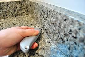 removing the side splash backsplash from our bathroom sink