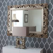 Silver Mirrors For Bedroom Carved Wood Gilt Silver Mirror Organization Bedroom Closet
