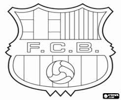 Kleurplaat Fc Barcelona Badge Kleurplaten